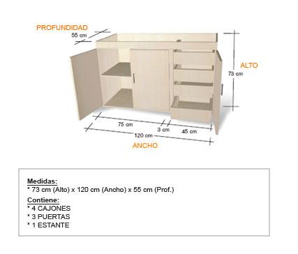 Presupuestos de muebles a medida en zona sur lomas de for Medidas de muebles para planos